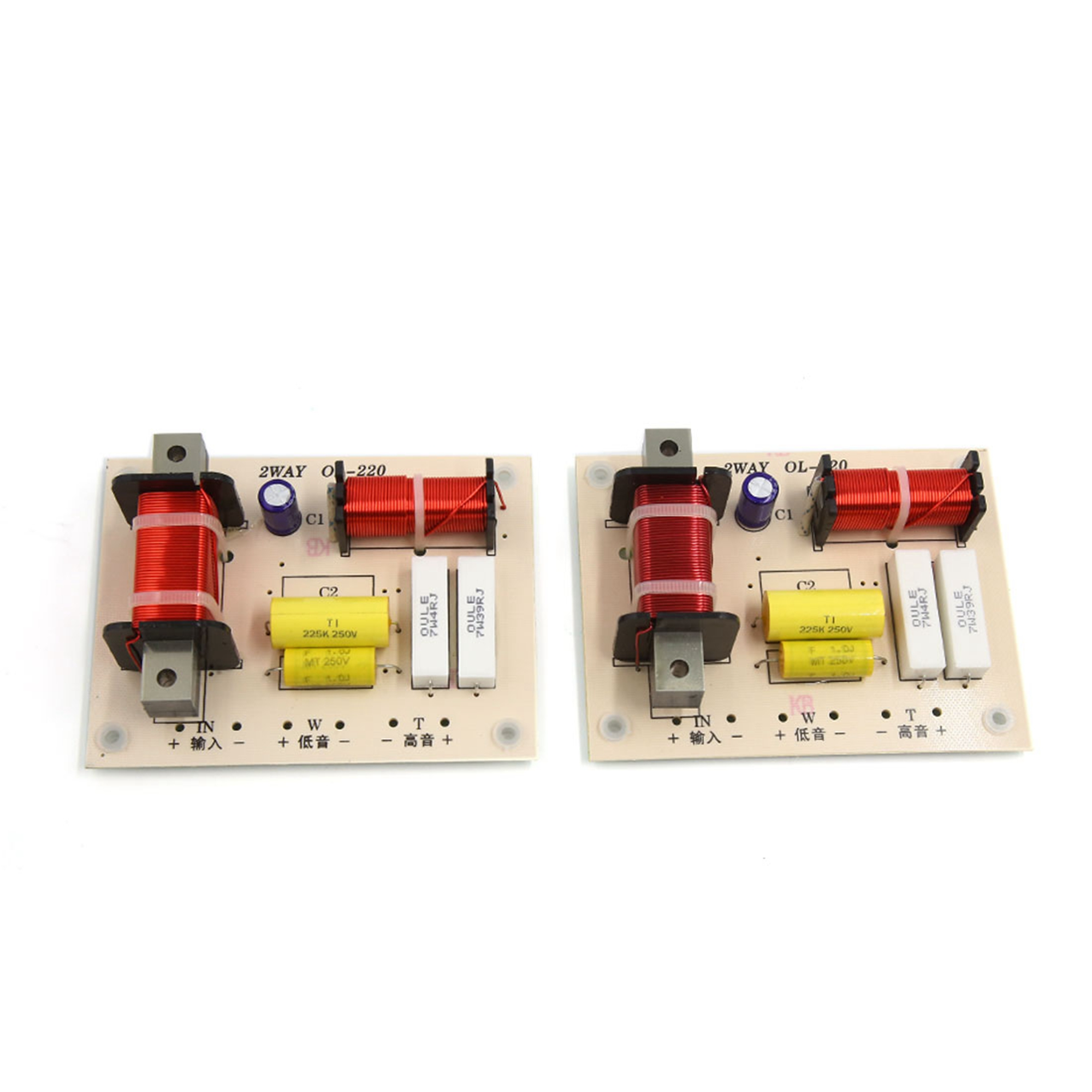 2pcs 180W High Low 2 Way Crossover Filter for Audio Frequency Divider