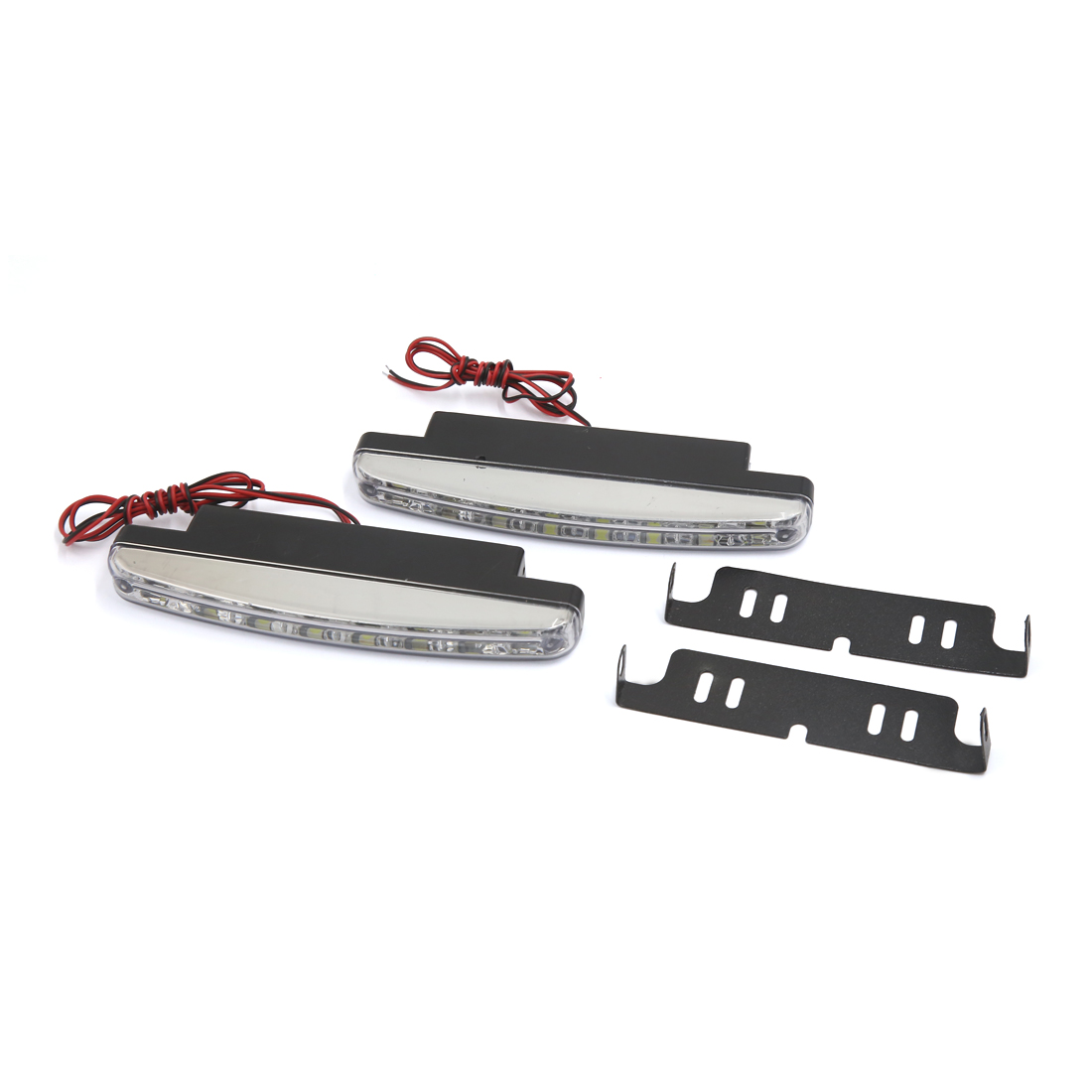 Car Front Grill White LED Daytime Running Light Fog Lamp 2 Pcs