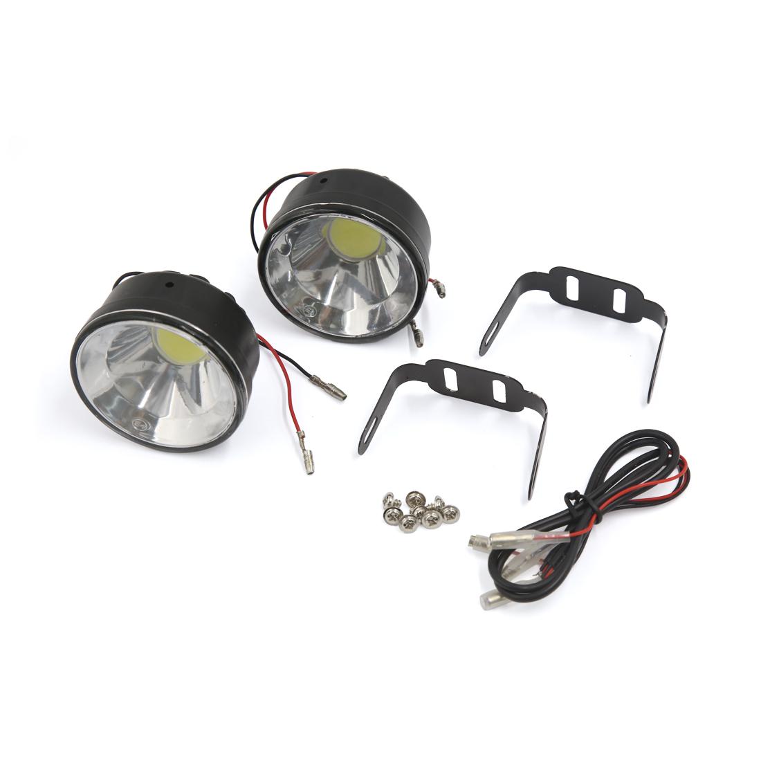2pcs Round LED Daytime Running Light DRL Car Fog Lamp White