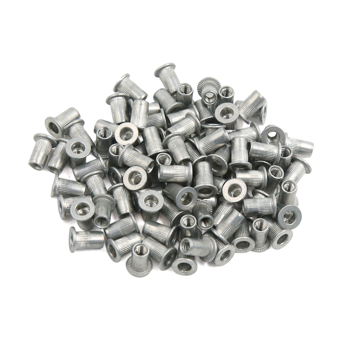 90 Pcs M4 Car Aluminum Alloy Thread Flat Head Rivet Nut Insert Nutserts