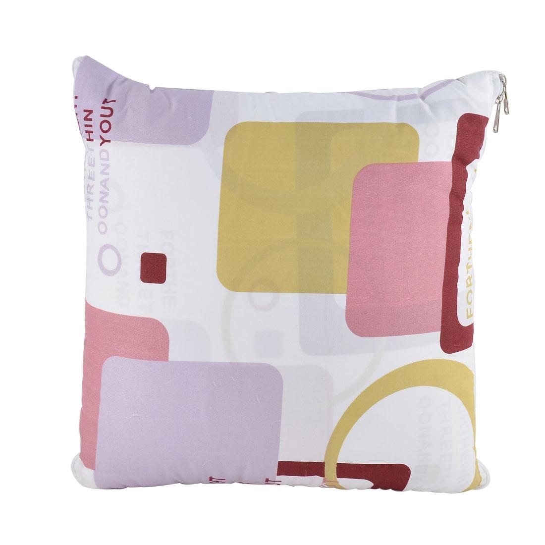 Home Office Car Cotton Blends Graph Print Zippered Pillow Cushion Quilt Dual 40 x 40cm