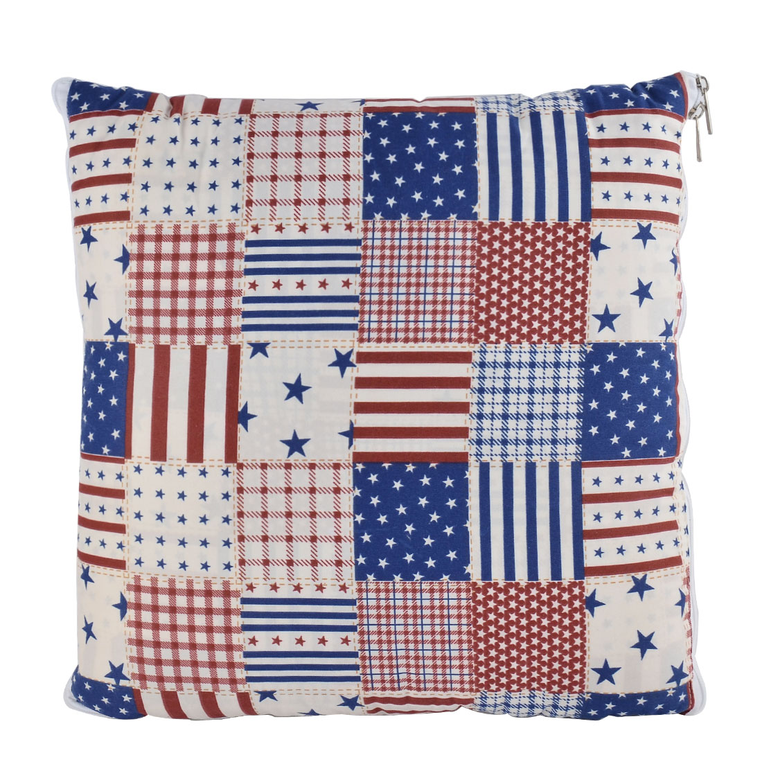 Home Office Car Cotton Blends Stars Print Zippered Pillow Cushion Quilt Dual 40 x 40cm