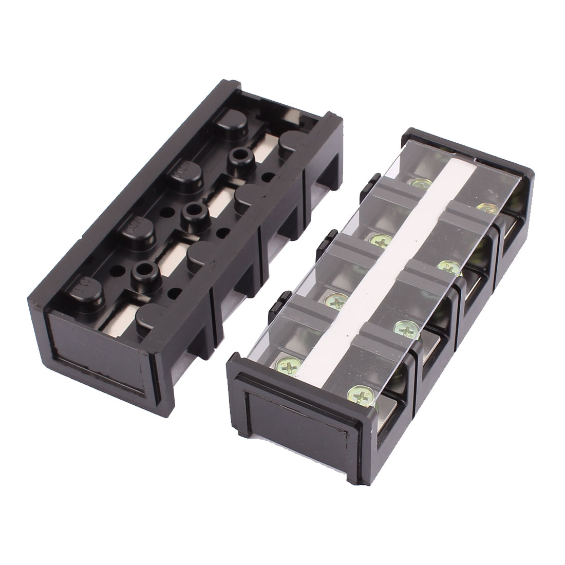 2pcs 600V 100A 4 Position Double Row Large Current Terminal Barrier Blocks Connector TC1004