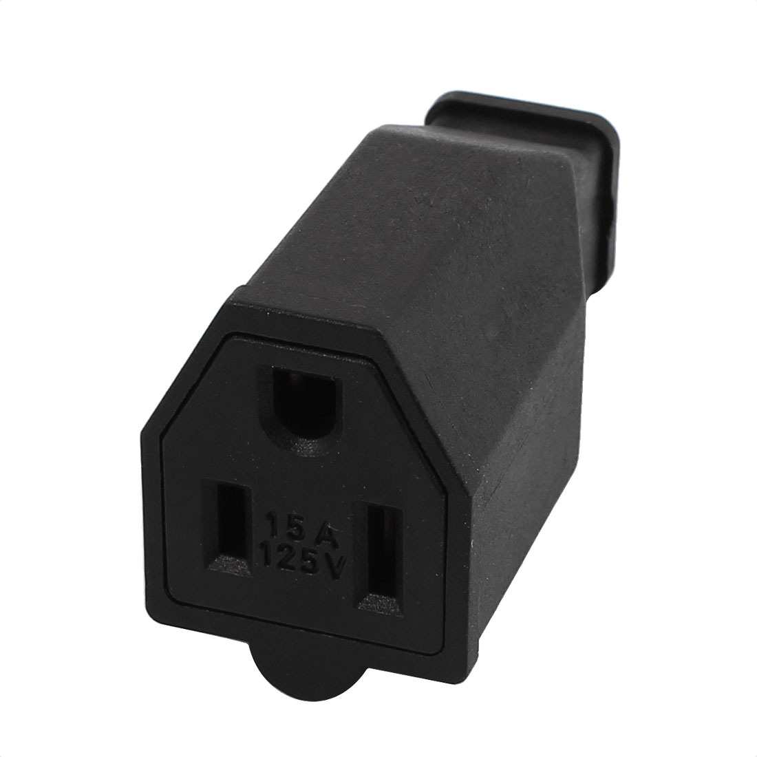15A 125V AC US Socket Receptacle Nema 5 15R Female Connector Black SS-159