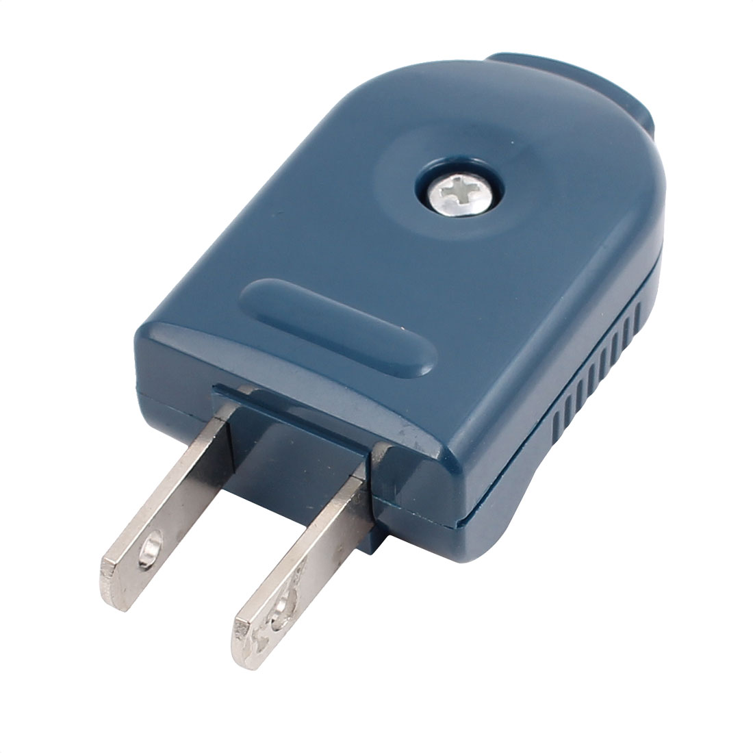 250VAC 10A 2-Pin Foldable Flip High quality Power Blue Connector