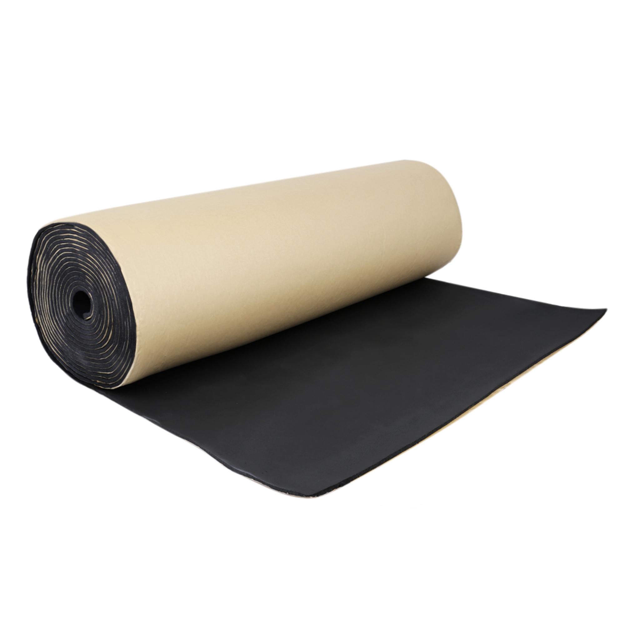 """197mil 10.76sqft Car Sound Insulation Noise Deadener Cotton Black Mat 40""""x40"""""""