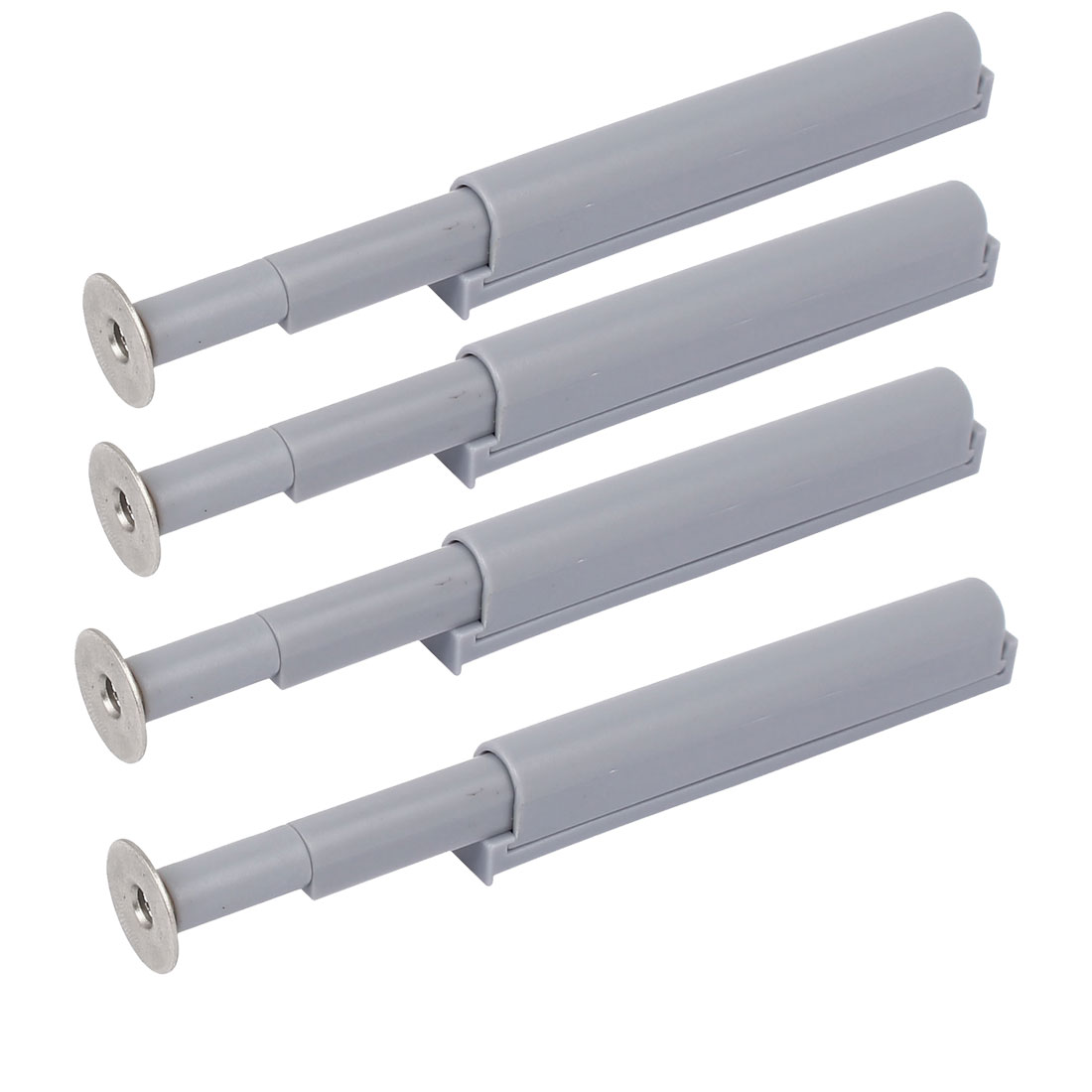 Cabinet Drawer Door Push Open System Damper Buffer Gray 4PCS w Magnetic Tip