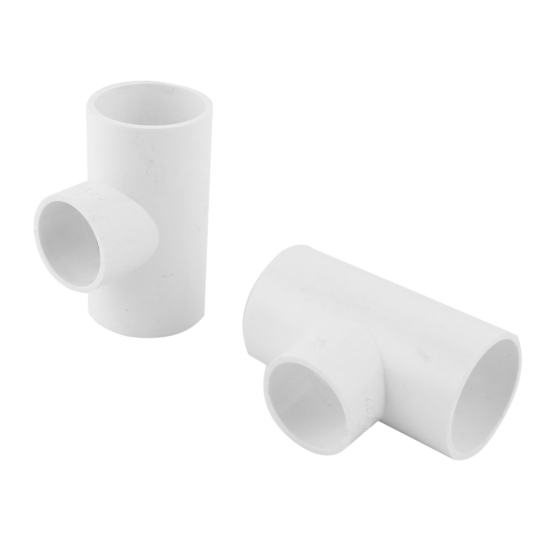 PVC T Shape 3 Way Distributary Water Drainage Pipe Fitting Adapter Connector 4pcs