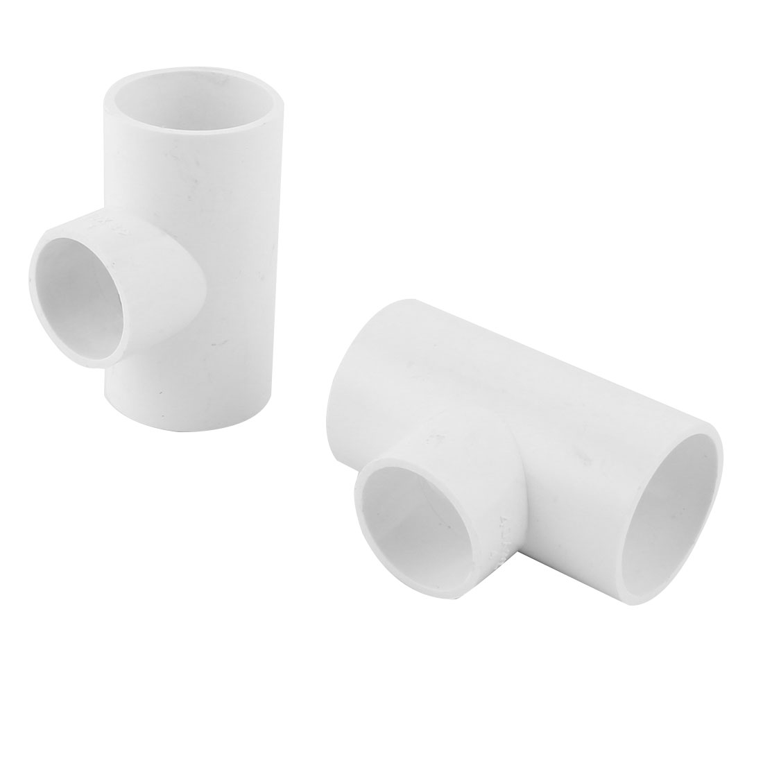 Industrial Home PVC 3 Way Distributary Water Drainage Pipe Fitting Adapter Connector 2pcs