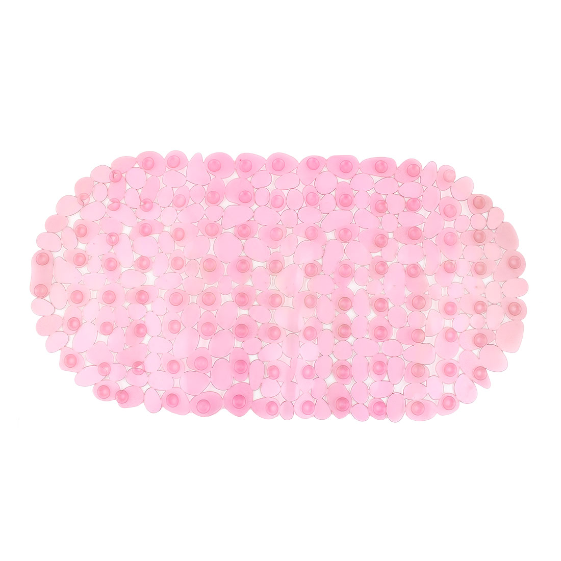 Shower Room PVC Oval Shape Nonslip Anti-skid Suction Cup Non-slip Mat Dark Pink
