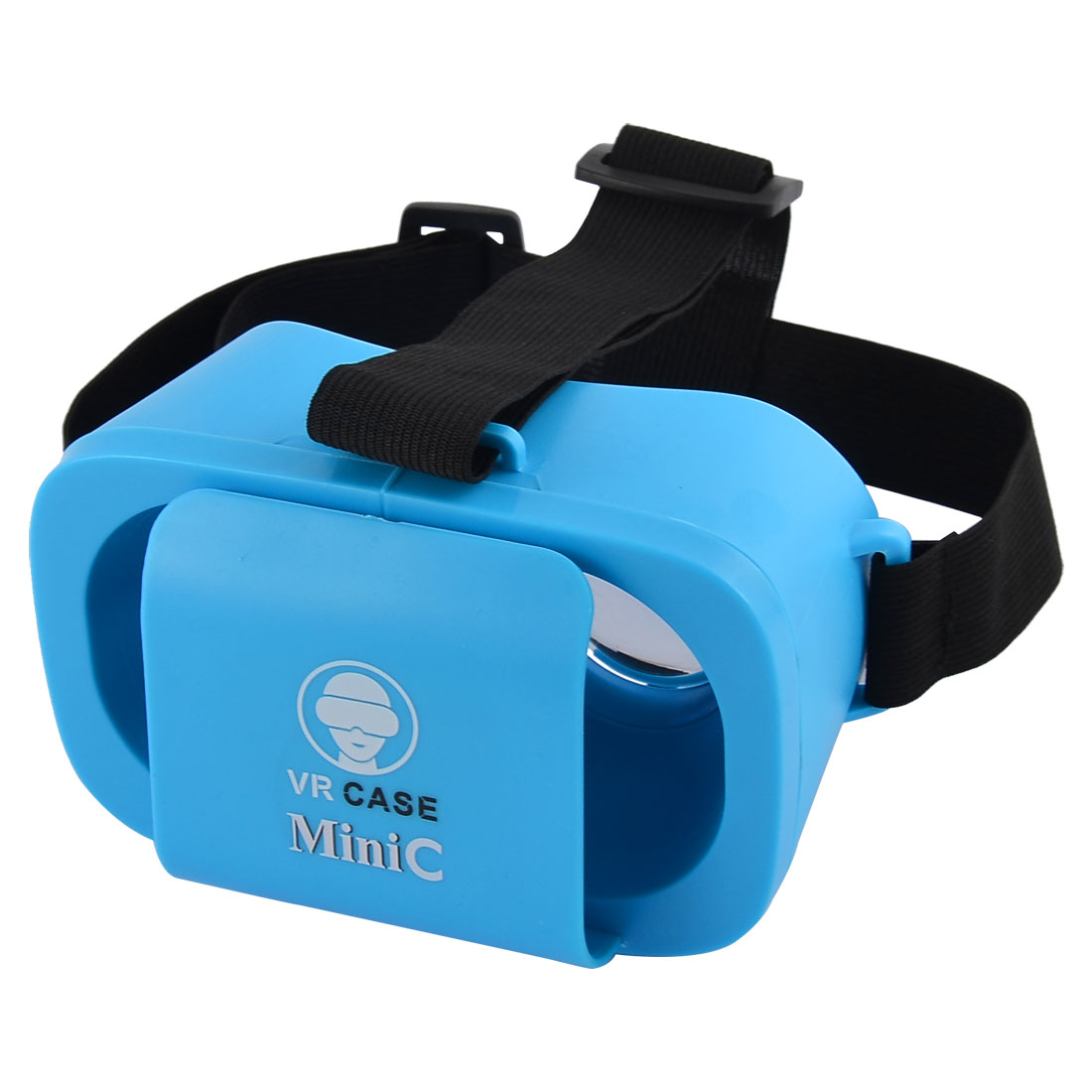 Universal Adjustable Lens T-shaped Straps Mini 3D Virtual Reality Glasses Blue for 4.7-5.5 Inch Smartphones