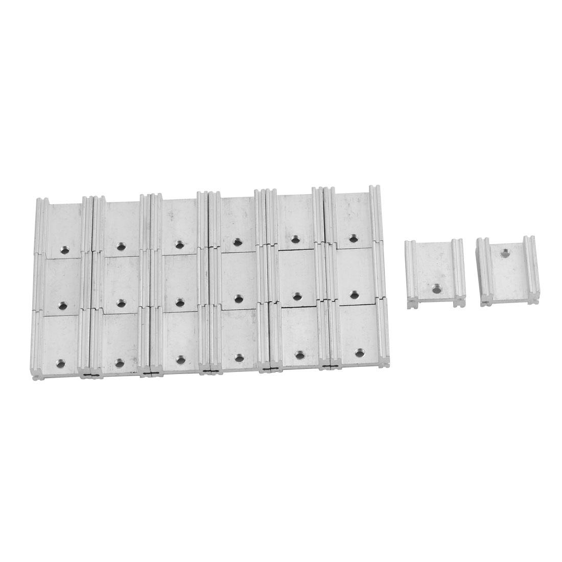 Aluminium Heatsink Cooling Fin Cooler Silver Tone 19mm x 17mm x 8mm 20 Pcs