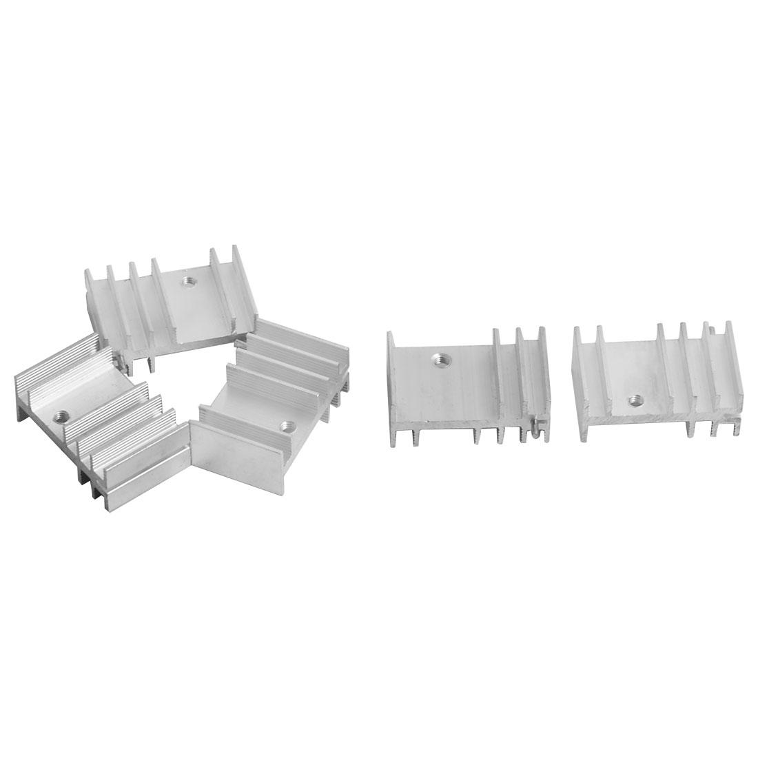 Aluminium Heatsink Diffusion Cooling Cooler Fin 28mm x 18mm x 11mm 5 Pcs