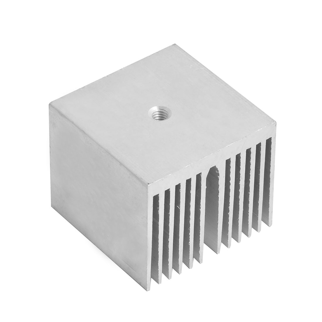 Aluminium Heat Diffuse Cooling Fin Cooler Silver Tone 35mm x 35mm x 30mm