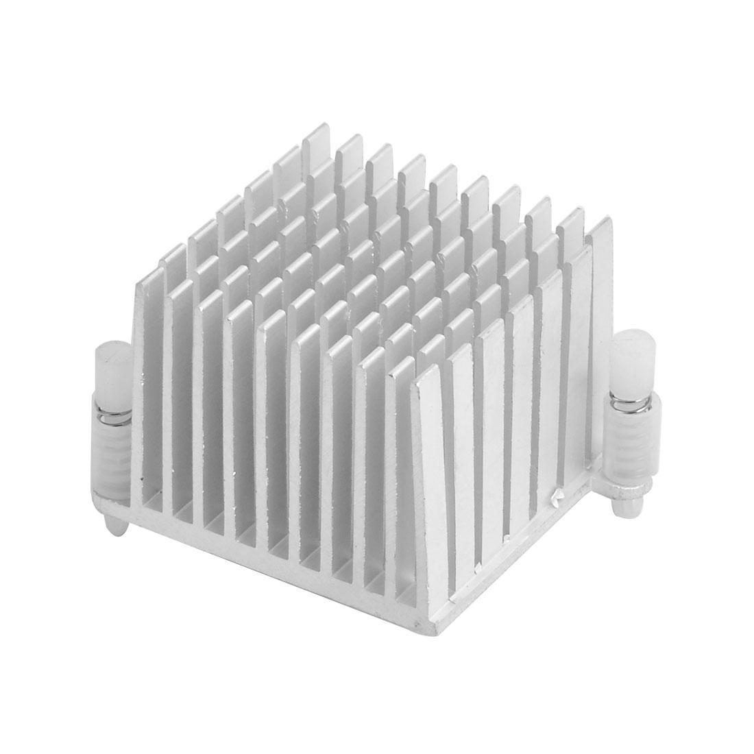 Aluminium Heat Diffusion Heatsink Cooling Fin Silver Tone 37mm x 37mm x 30mm