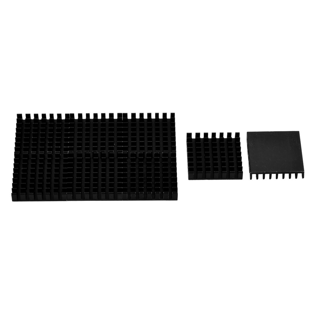 Aluminium Heat Diffuse Cooling Fin Heatsink Black 28mm x 28mm x 6mm 8 Pcs