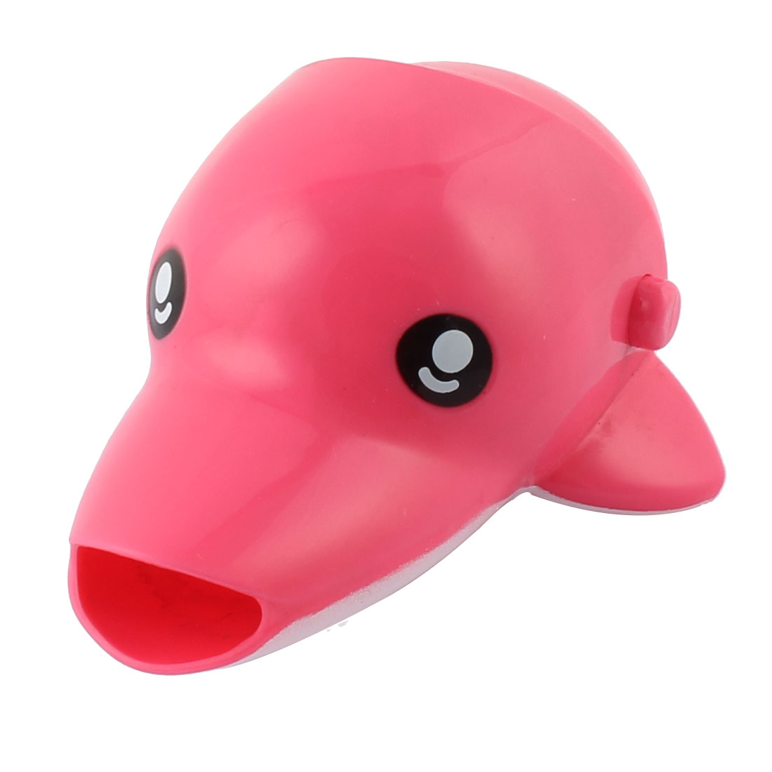 Kitchen Bathroom Silicone Dolphin Shaped Detachable Basin Tap Faucet Extender Pink