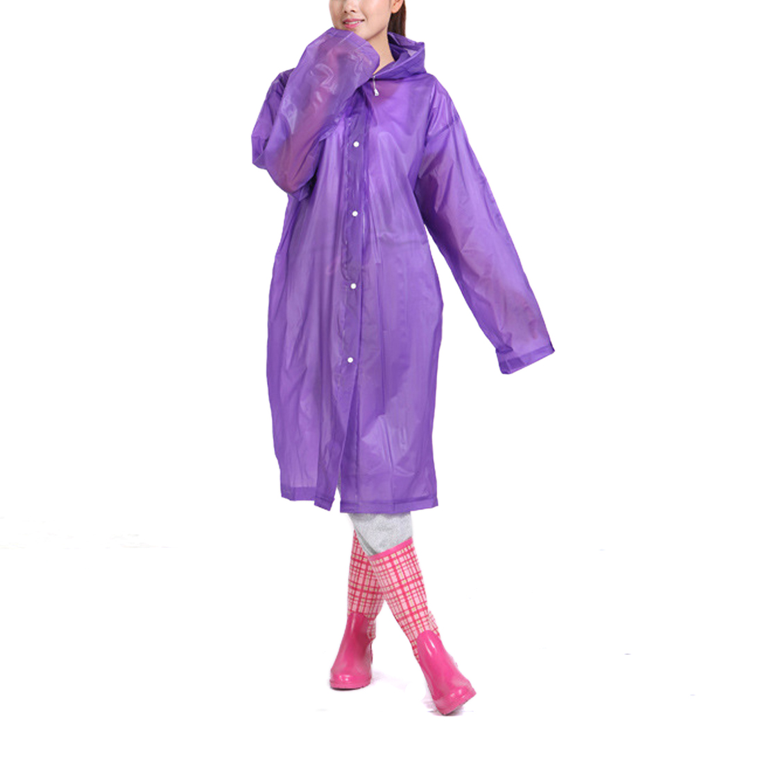 Purple Bike Bicycle Cycling Outdoor Waterproof Raincoat Clothes Coat Rain