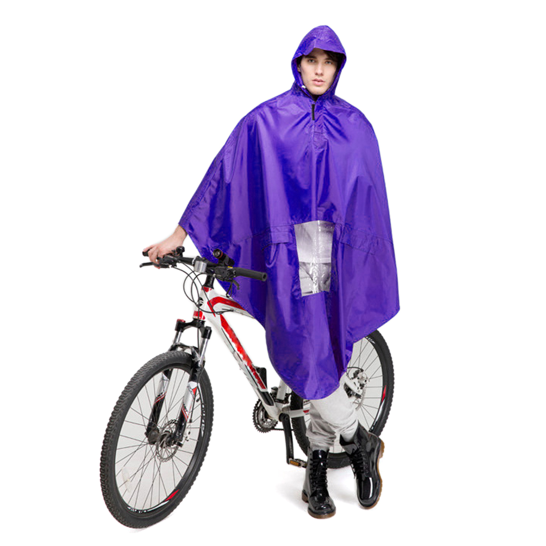 Unisex Adult Bike Bicycle Motorcycle Outdoor Riding Clothes Raincoat Coat Rain
