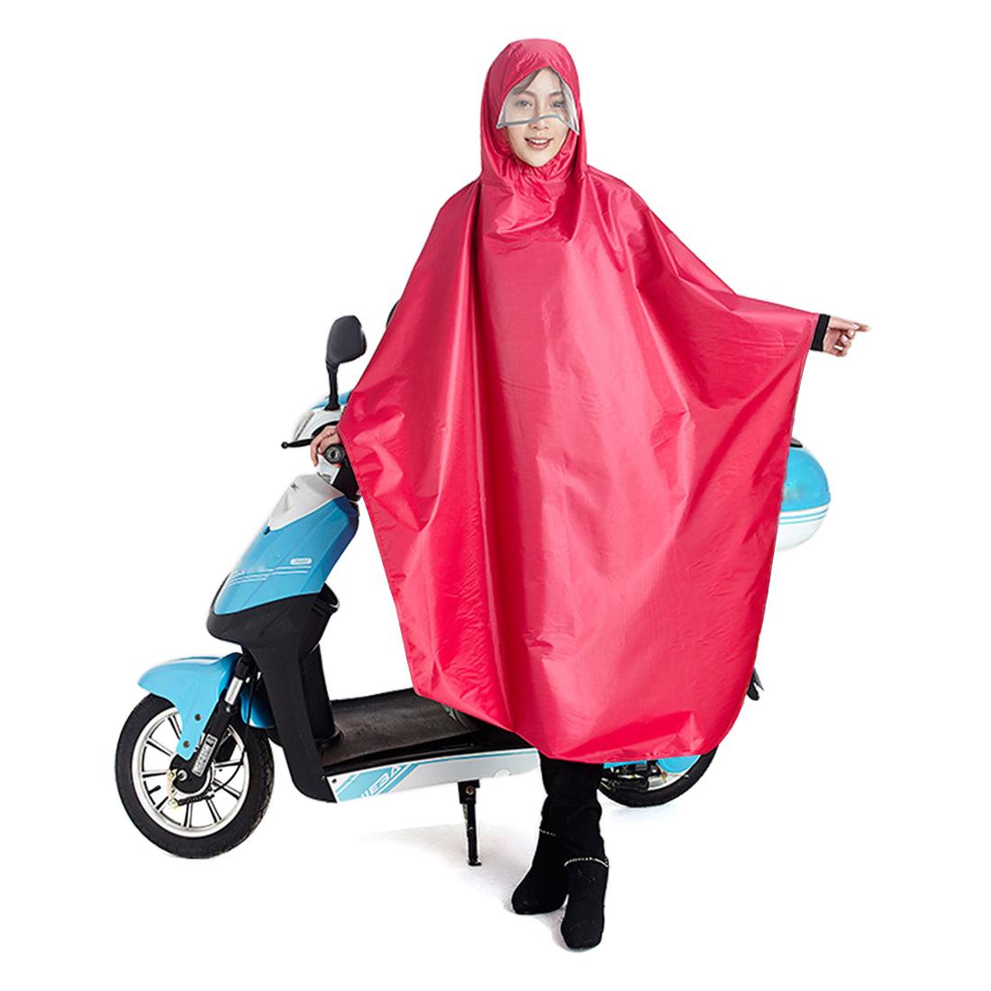 Pink Adult Poncho Cycling Raincoat Bicycle Hooded Waterproof Rain Coat Cover