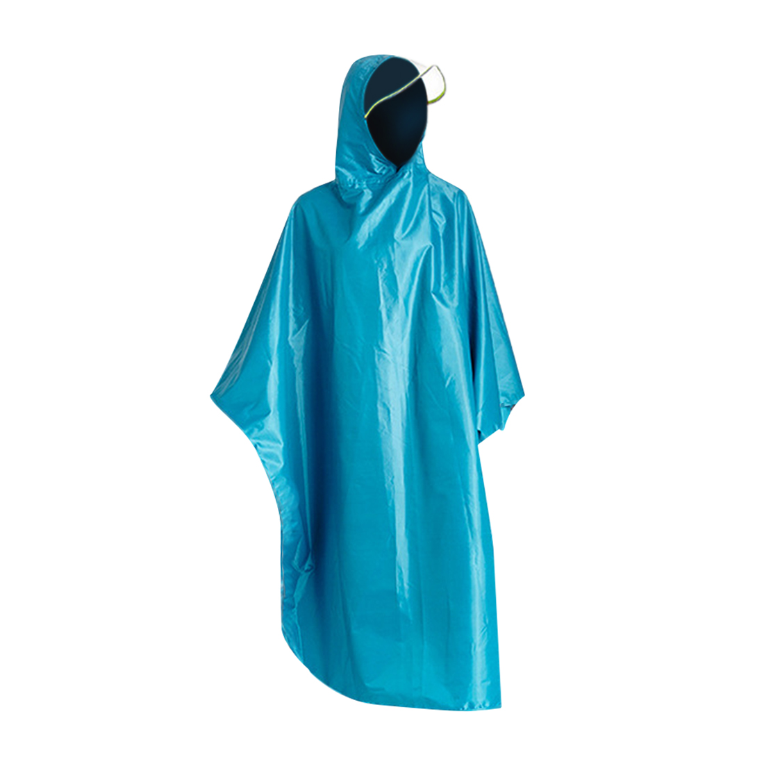 Sky Bule Adult Poncho Cycling Raincoat Bicycle Hooded Waterproof Rain Coat Cover