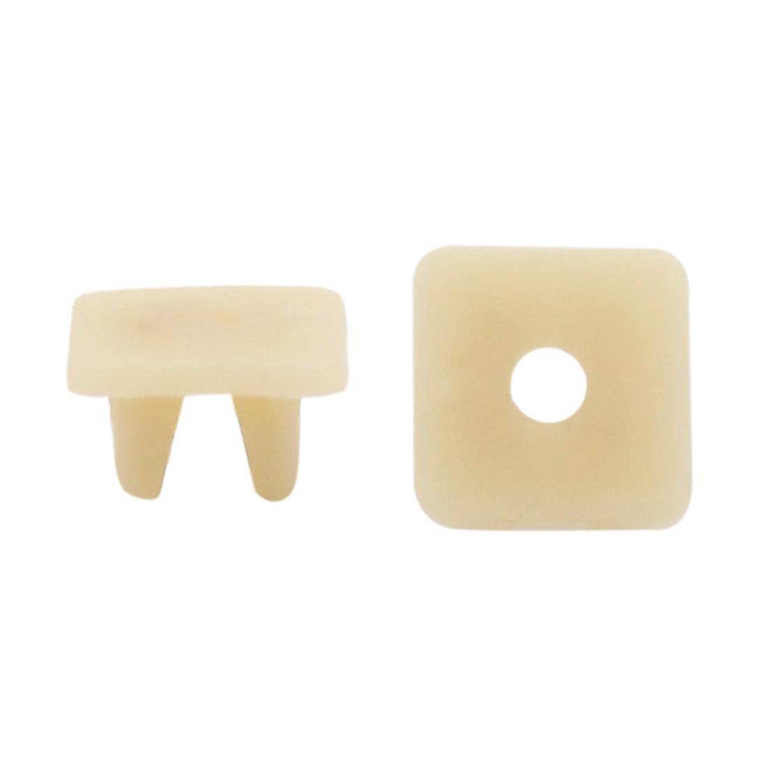 20pcs 9 x 8mm Hole Beige Plastic Rivets Fastener Push Clips for Car Auto Fender