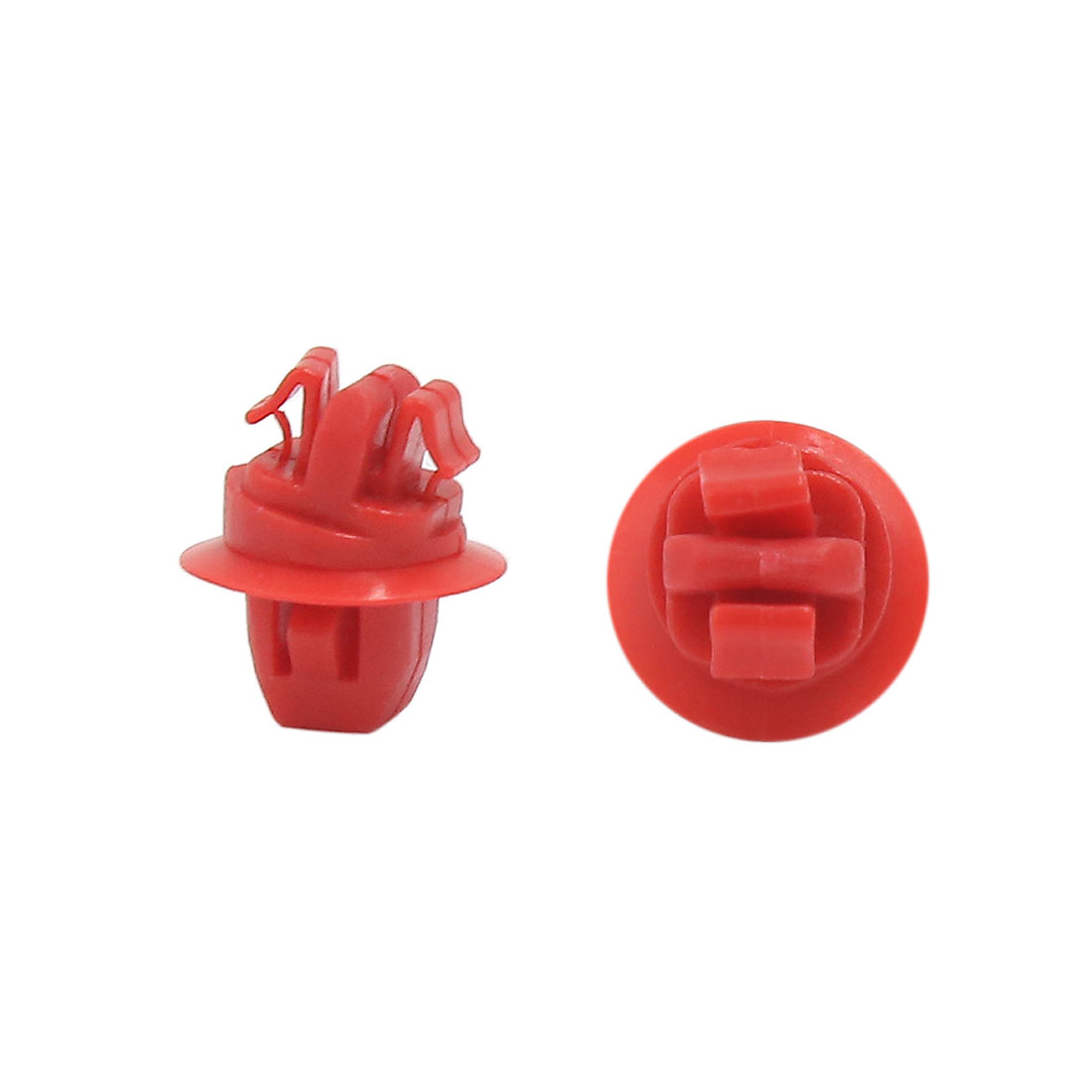 20PCS Red Plastic Rivets Car Bumper Fender Fastener Clips for 10mm x 8mm Hole