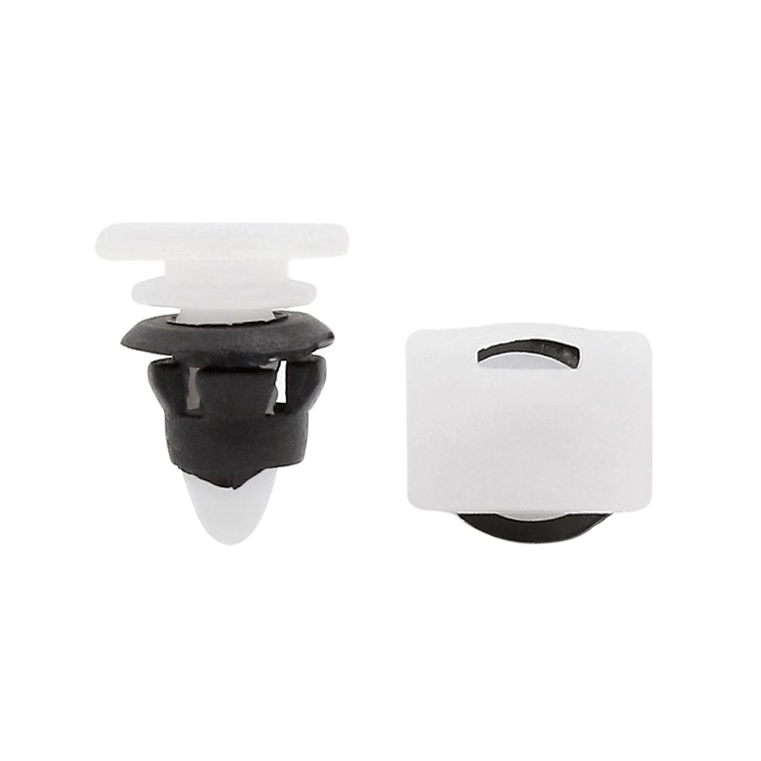 30PCS 10mm Hole White Black Plastic Rivet Panel Fixings Clips for Car Vehicle