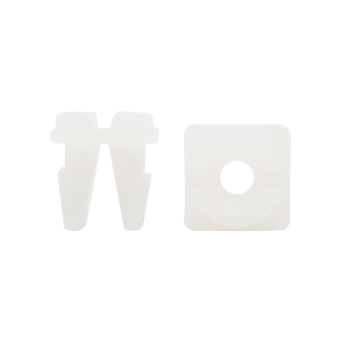 30pcs 11 x 10mm Hole Plastic Rivets Fastener Push Type Clips White for Auto Car