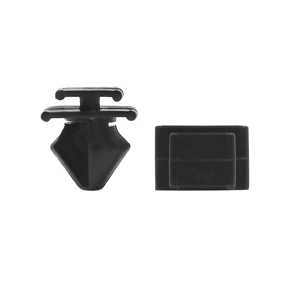 30pcs 12mm Hole Plastic Door Fender Bumper Push Rivets Clip Black for Car