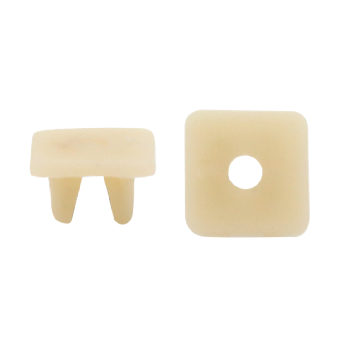 40pcs 9 x 8mm Hole Beige Plastic Rivets Fastener Push Clips for Car Auto Fender
