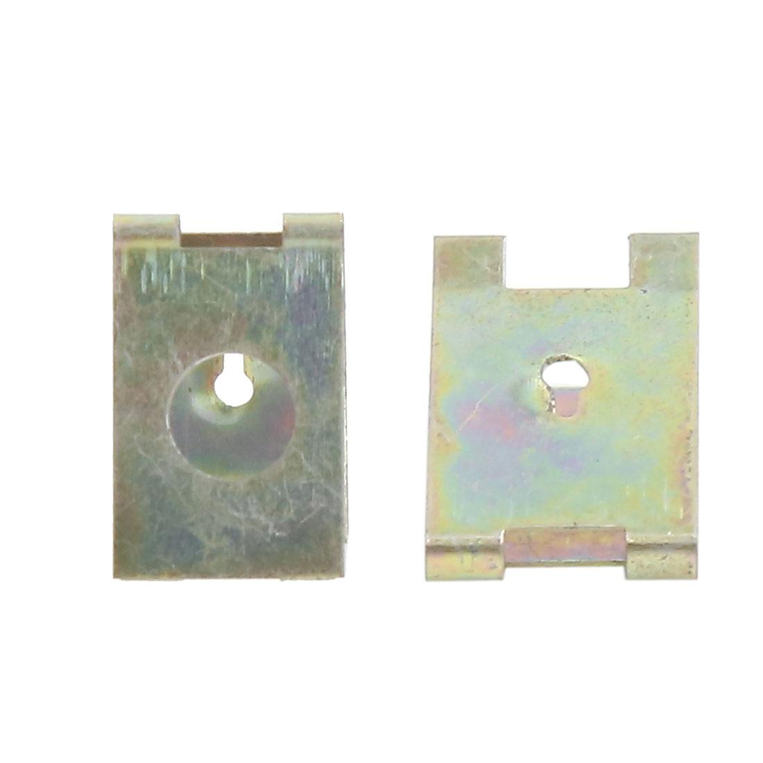 40pcs 6mm Bronze Tone Spring Metal Car Door Pannel Spire Screw U-Type Clips