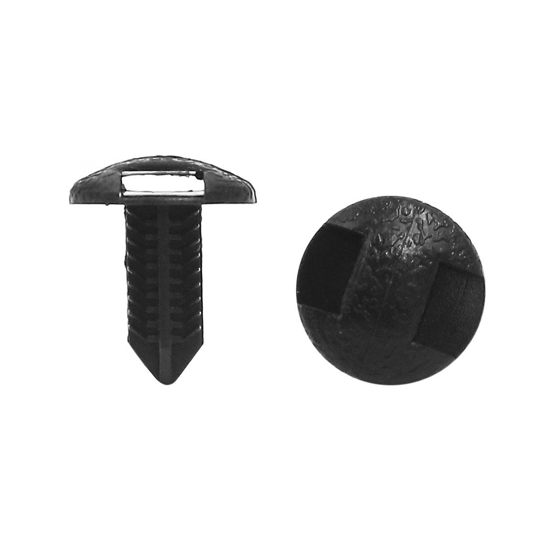 40 Pcs Black Plastic Defender Fastener Auto Car Door Rivets 6.5mm x 6mm Hole
