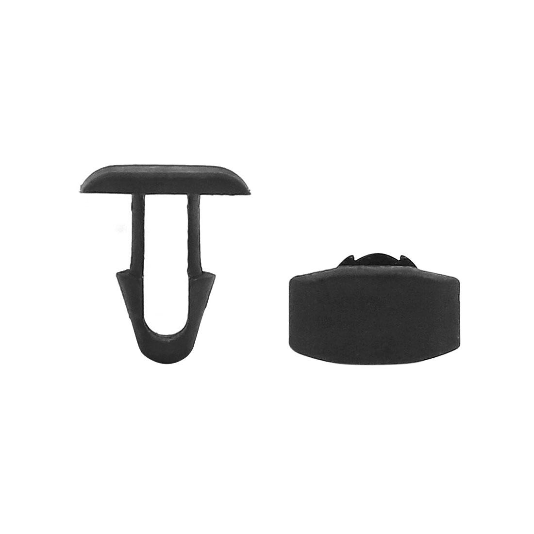 40pcs 7mm Hole Diameter Plastic Rivet Fastener Clips Black for Car Fender Bumper