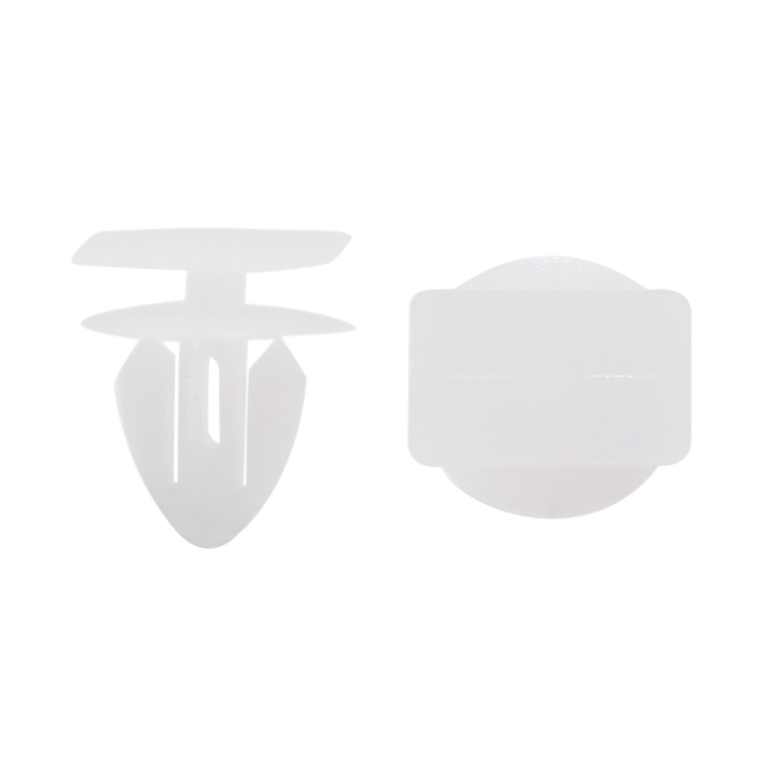 50pcs Plastic Rivets Fastener Car Auto Fender Fixing Clips White Fits 11mm Hole