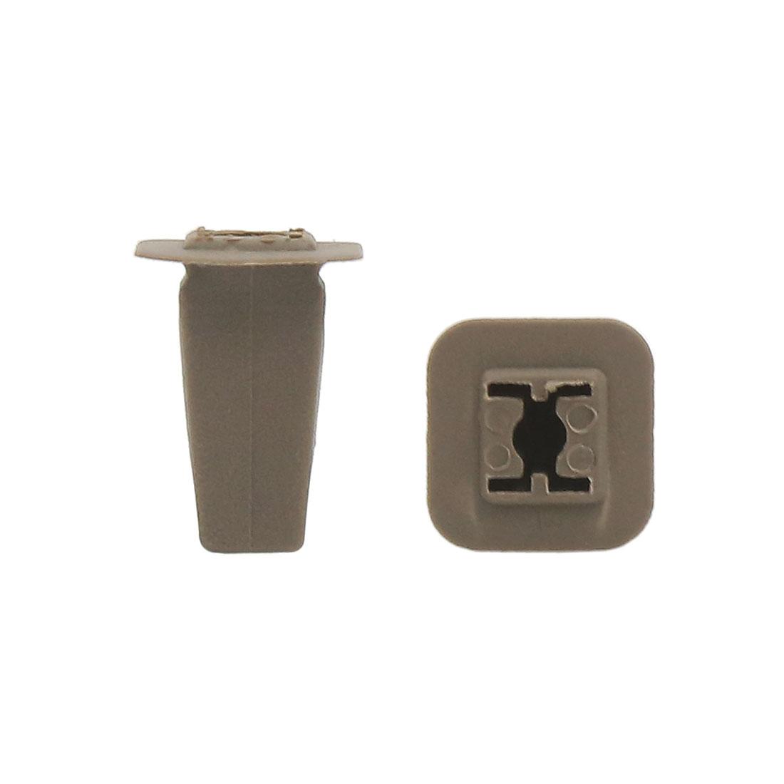 50PCS 9 x 7mm Hole Deep Gray Plastic Rivet Panel Fixings Clips for Car Vehicle