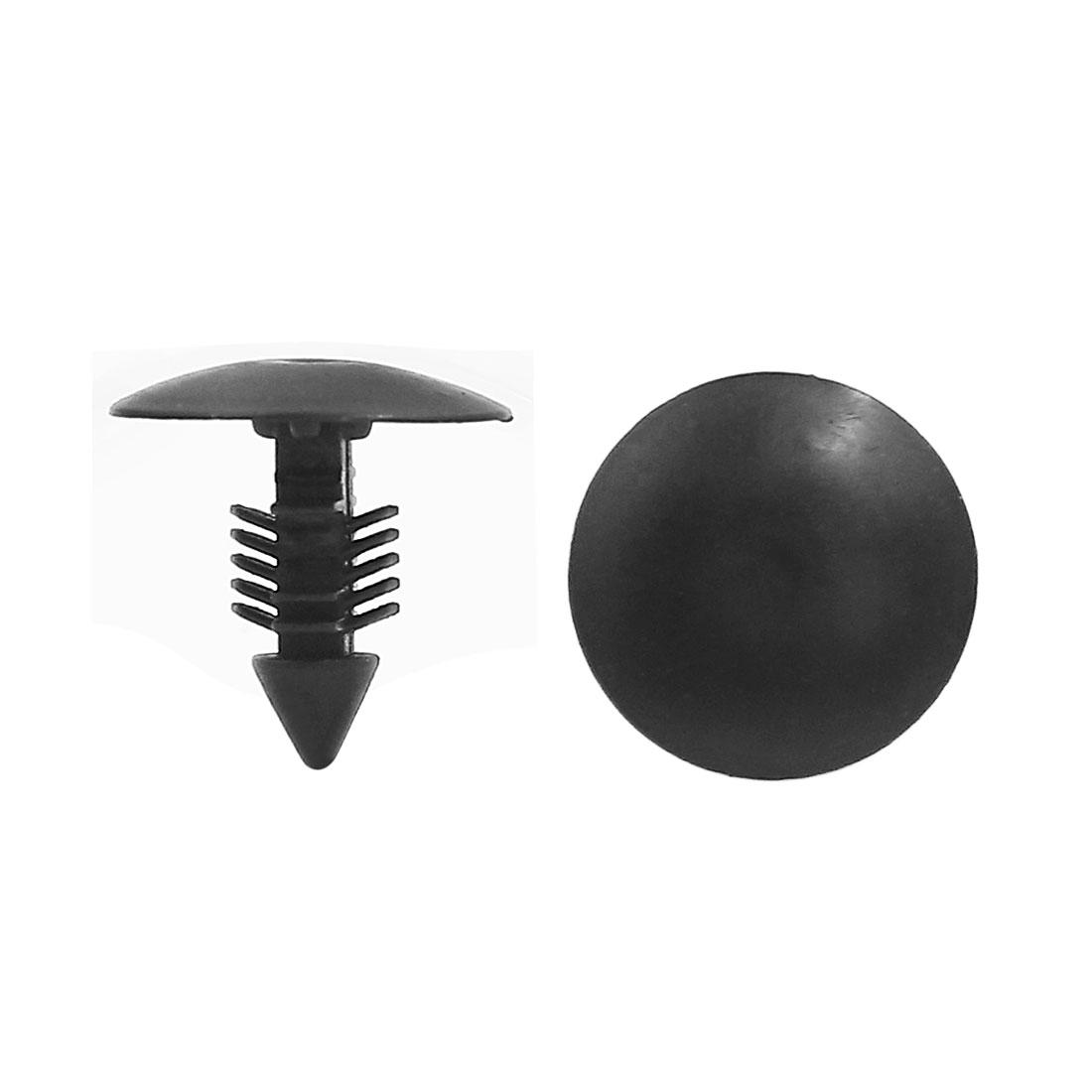 "50pcs Black Plastic Car Door Rivet Push Clips Fasteners for 7mm 2.8"" Dia Hole"