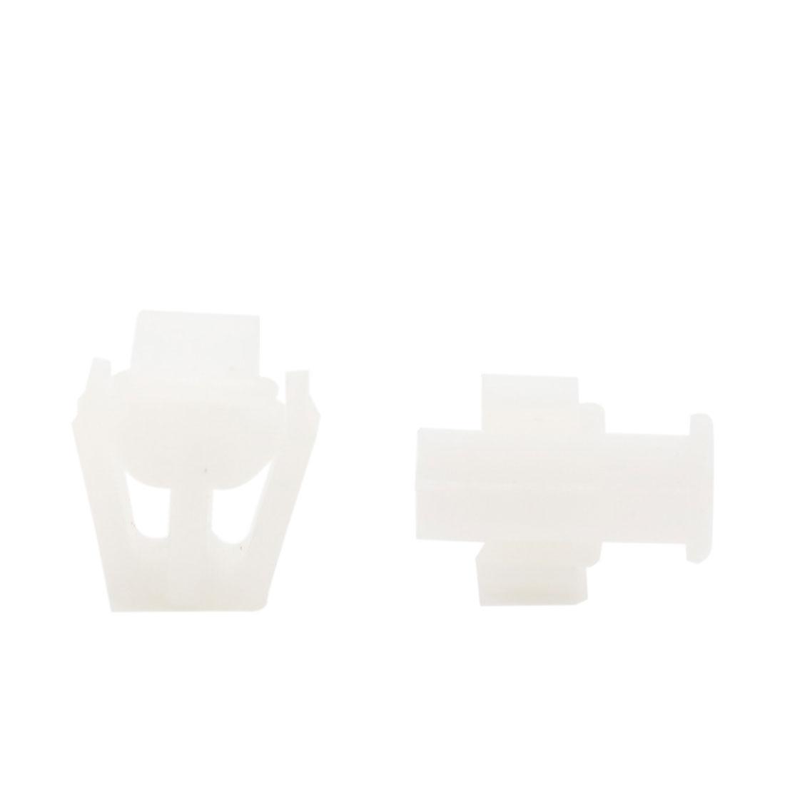 50 Pcs White Plastic Rivet Trim Fastener Moulding Clips Fit for 12mm Dia Hole