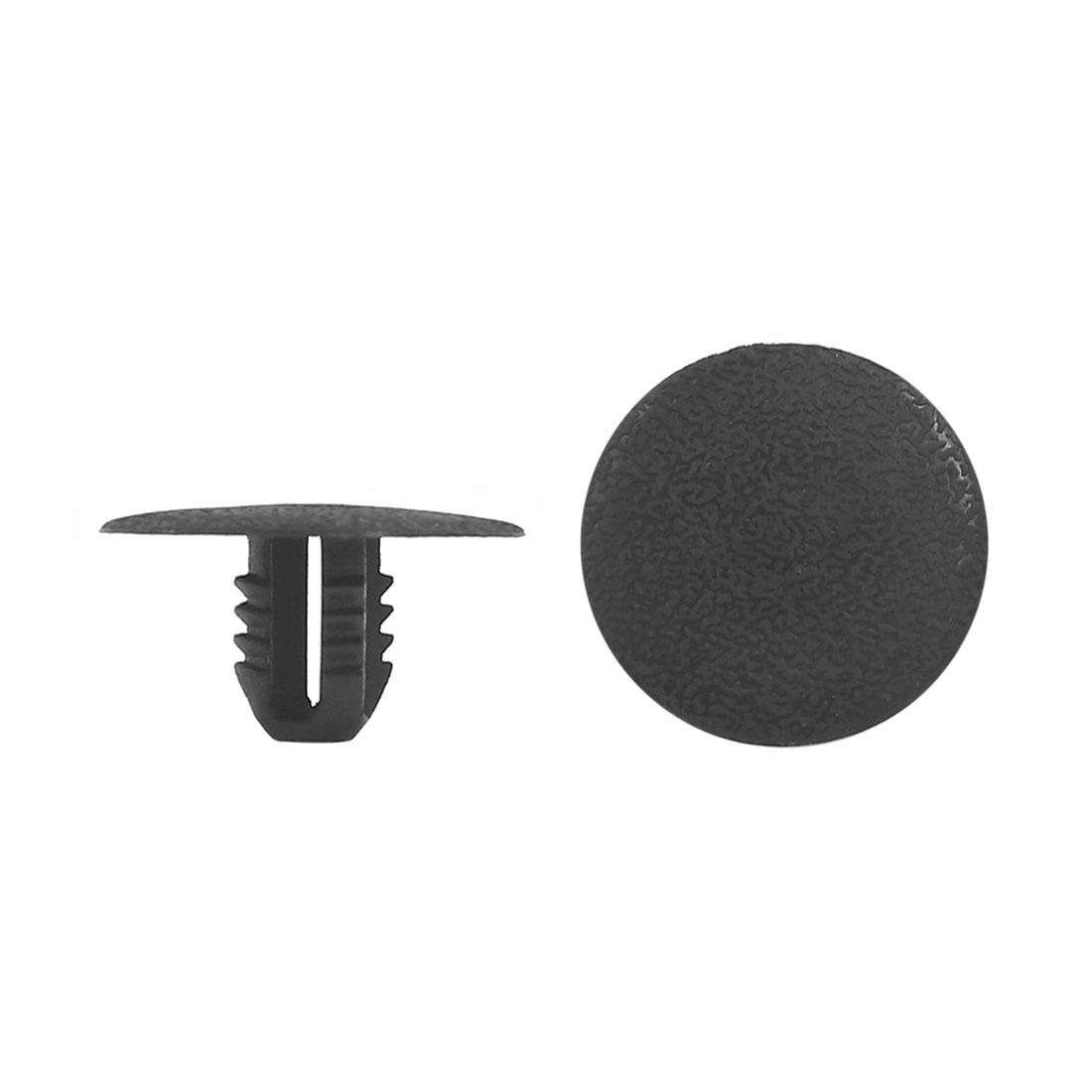 50pcs Black Plastic Rivets Retainer Clips 8mm x 13mm x 25mm for Car Door Fender