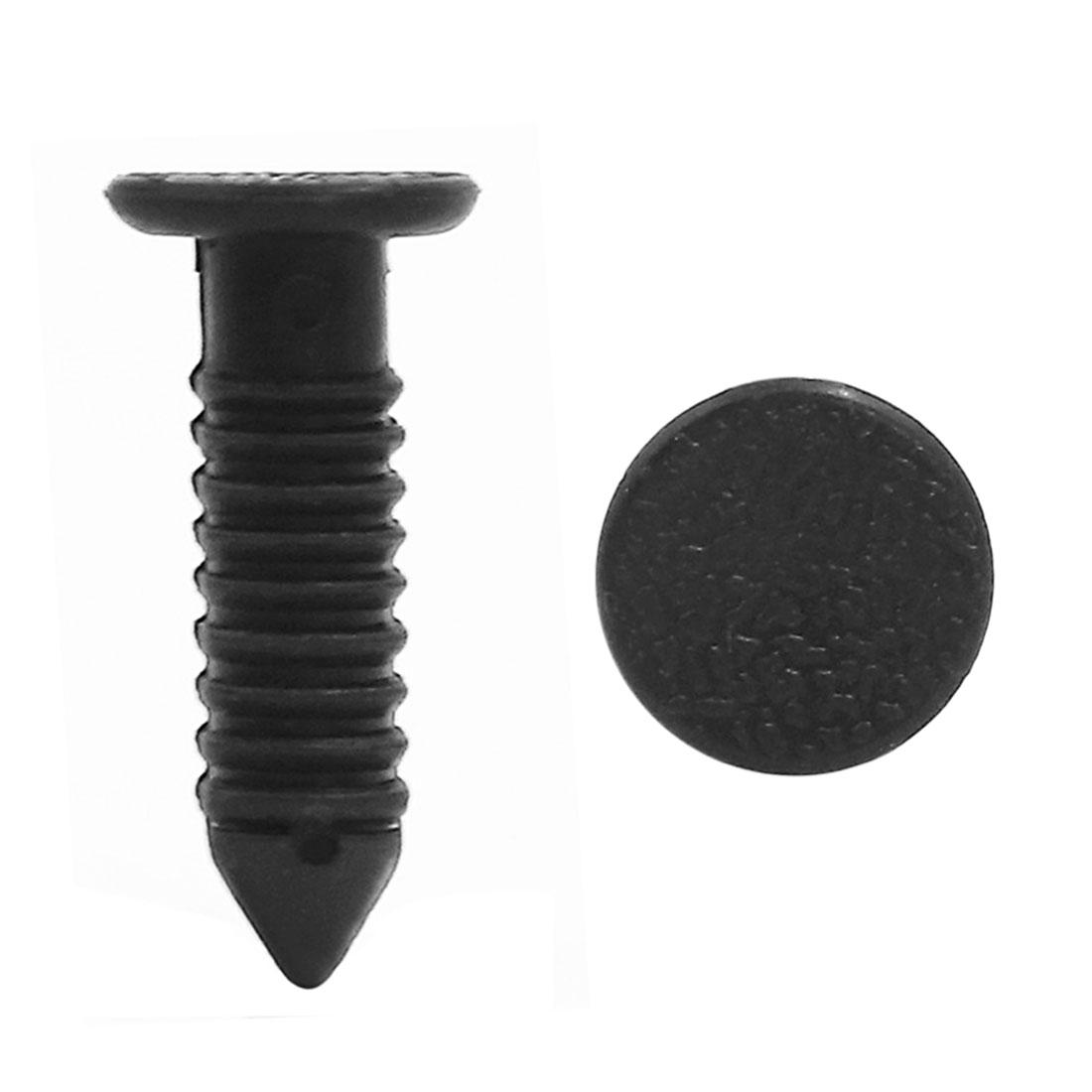 50 Pcs Plastic Car Rivets Retainer 8.5mm Hole Fender Bumper Push Pin Clip Black