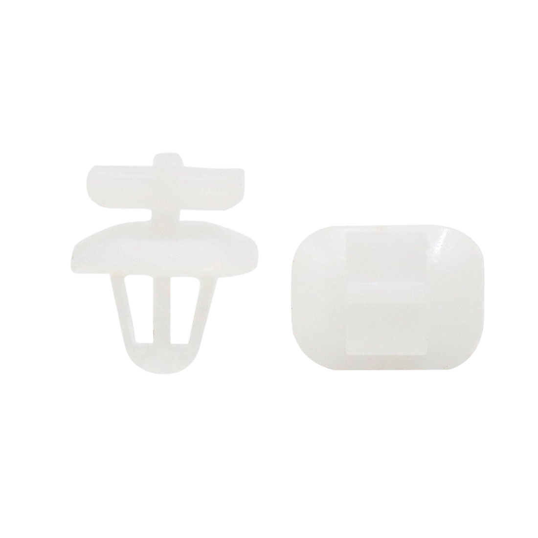 50pcs 8mm Hole White Plastic Rivets Trim Fastener Bumper Retainer Clips for Car