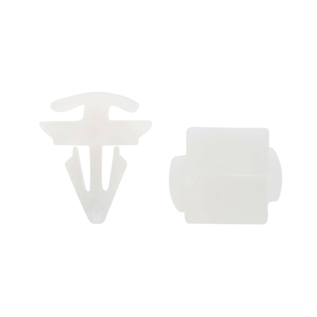 10mm 0.4inch Truck Car Door Plastic Rivet Fastener Retainer Clip White 50 Pcs