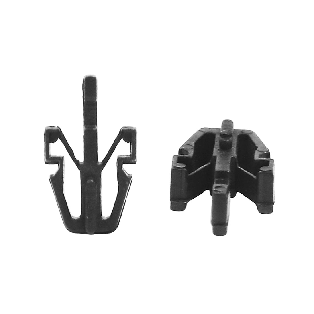 50 Pcs Universal Black Plastic Rivet Push in Type Retainer Fastener Clips 11mm