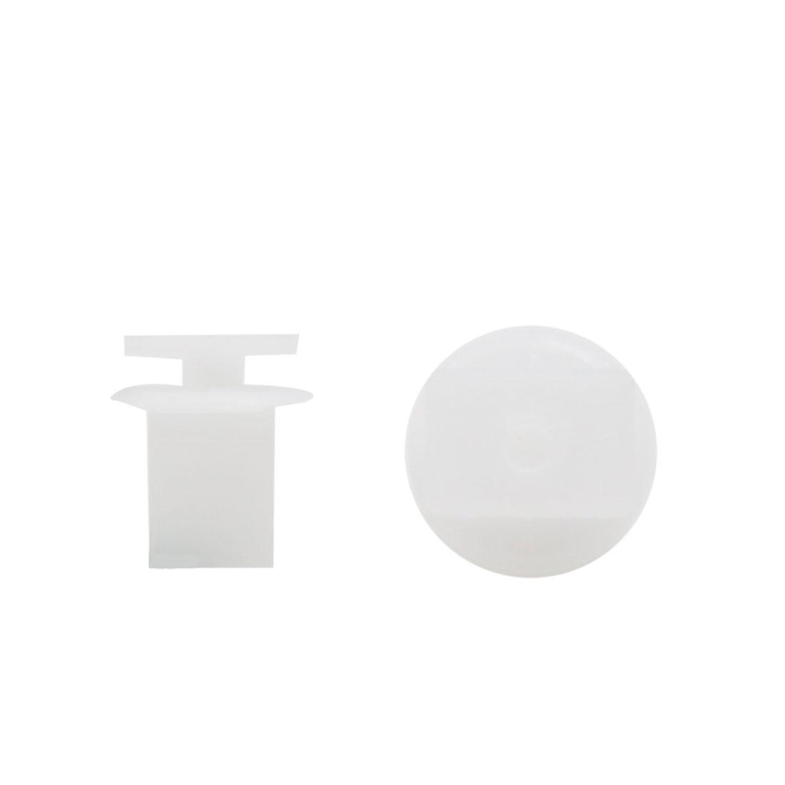 50pcs 8mm Hole White Plastic Rivets Car Push in Type Bumper Retainer Clips