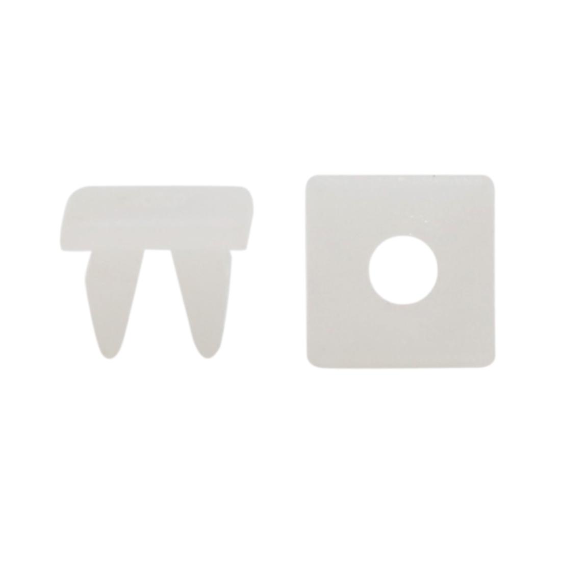 100Pcs Universal White Plastic Rivet Car Trim Panel Hood Fastener 7mm x 6mm Hole