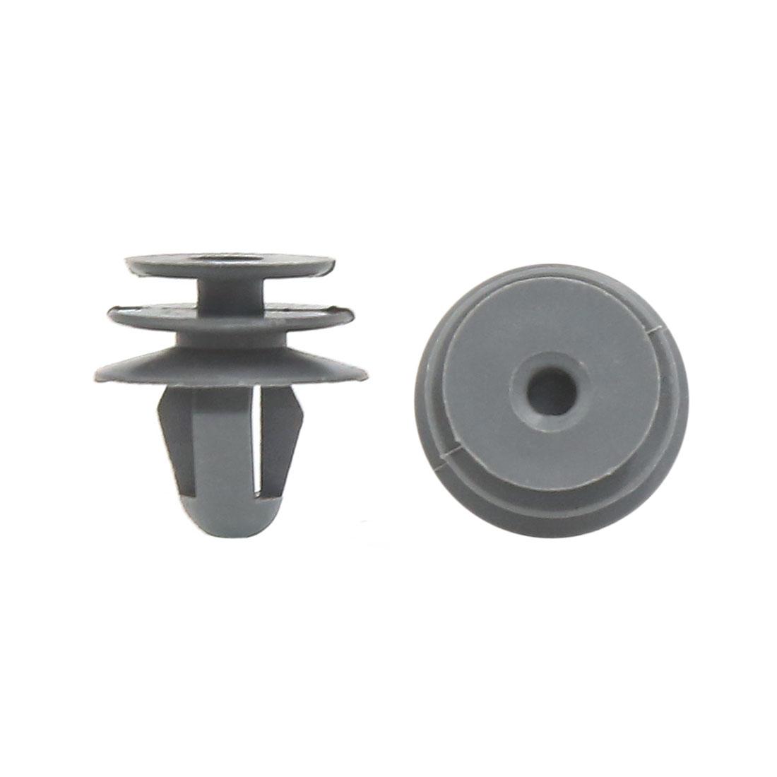 100 Pcs Gray Bumper Fender 8mm Hole Plastic Rivets Trim Fasteners for Car Auto