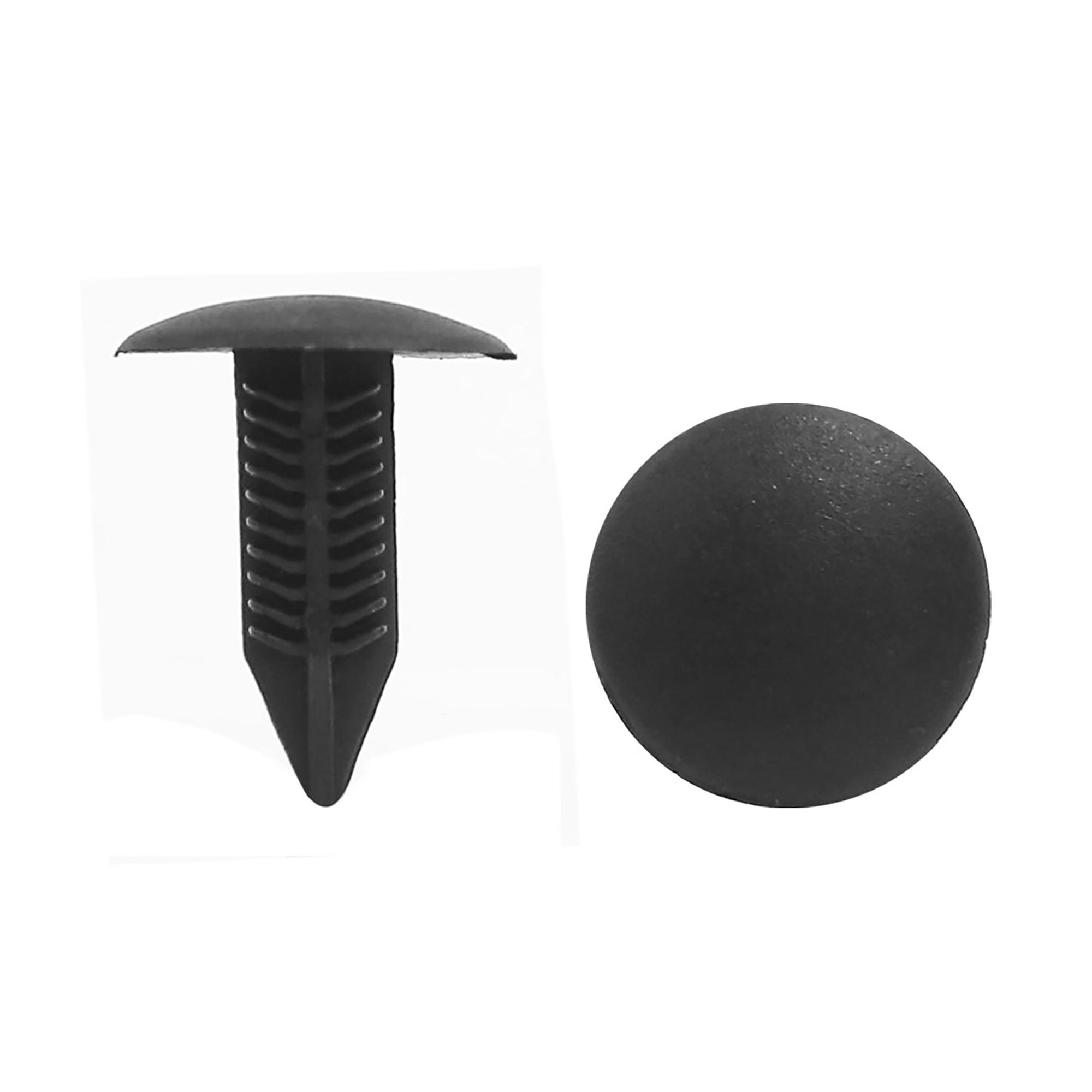 6.5mm x 6.6mm Hole Car Door Plastic Rivet Fastener Trim Panel Clip Black 100pcs