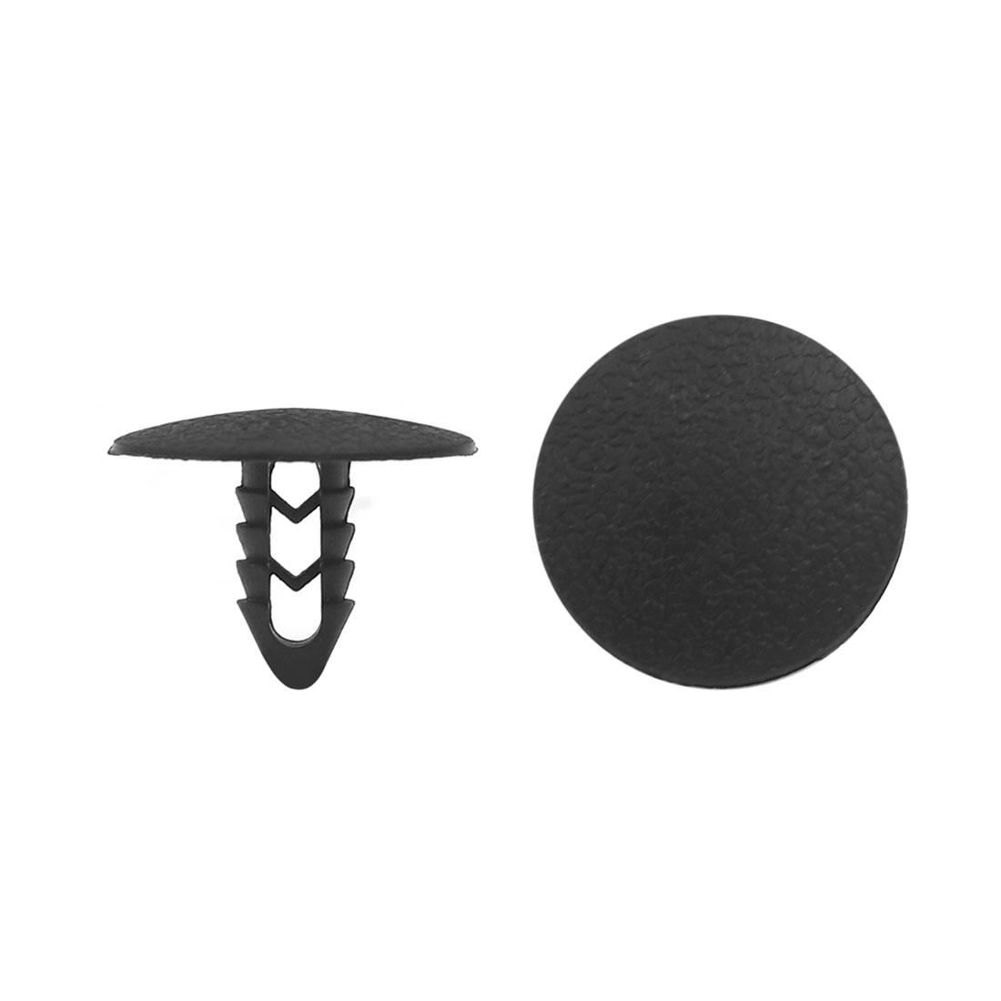 100pcs 25mm Head 8mm Hole Plastic Door Fender Bumper Push Rivets Clip for Car