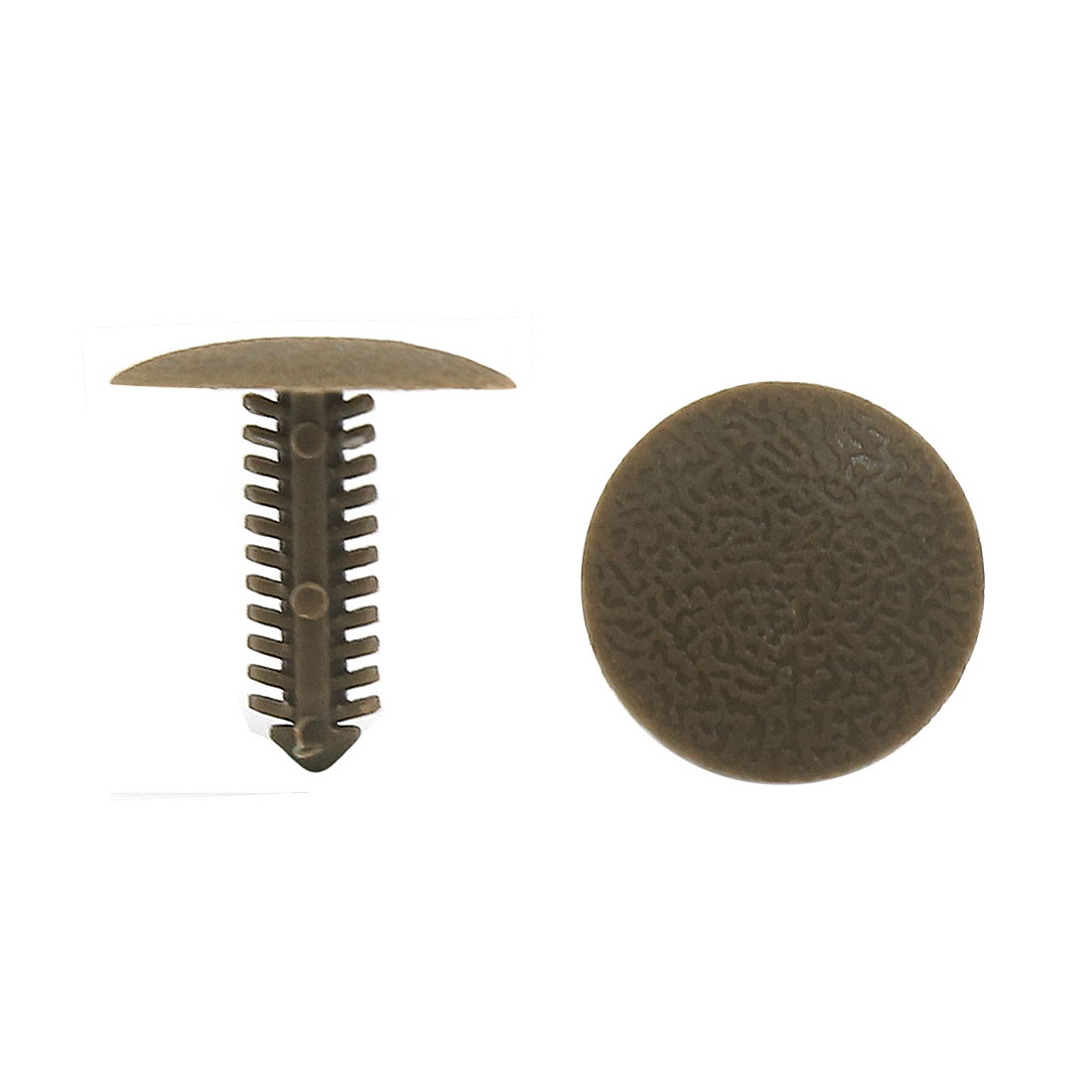 100 Pcs Deep Gray Bumper Fender 6mm Hole Plastic Rivets Fasteners for Car Auto