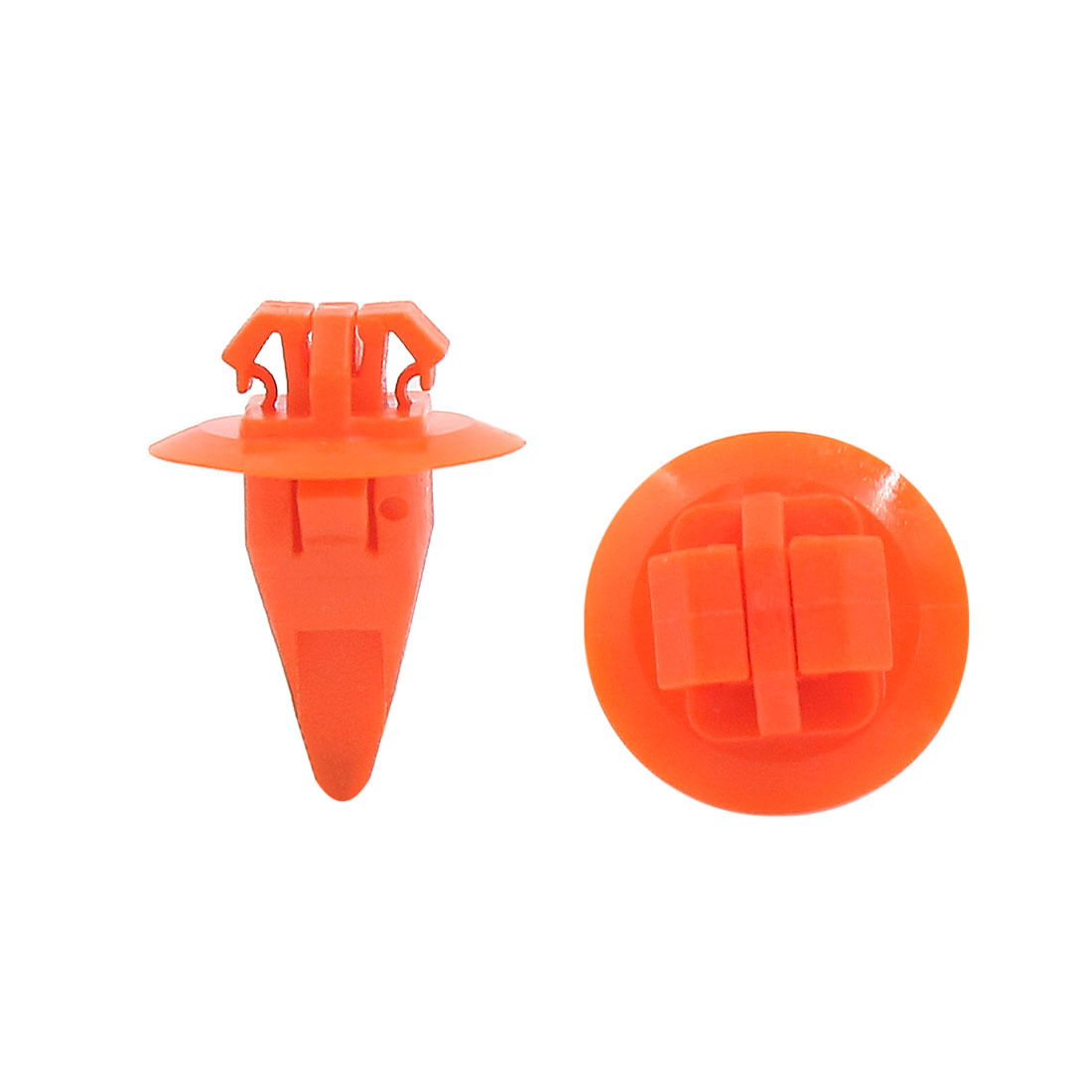 100 Pcs 10 x 8mm Hole Plastic Automobile Car Fastener Rivets Fender Clips Orange